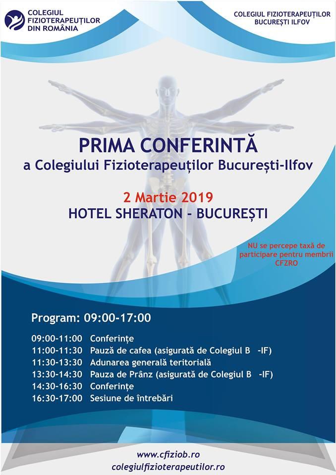 Prima Conferință a Colegiului Fizioterapeuților din România - 02.03.2019